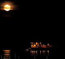 """Super Moon and Freighter"" by Lynn Bawden"