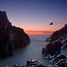 Early Morning at Bombo Rocks by Chris  Randall