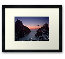 Early Morning at Bombo Rocks Framed Print