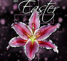 Easter Blessings Card - Easter Card With Lily Flower  by Moonlake
