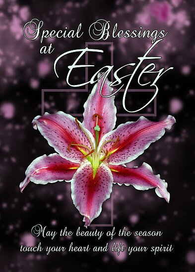 happy easter with blessings