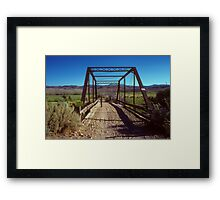 There was an Old Bridge Framed Print