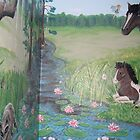 Horses in a Field by Wendy Crouch