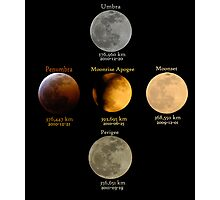 A Moon Full of Flavors and Sizes Photographic Print