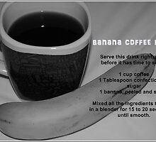 Banana Coffee Blend Recipe Card by Jonice