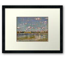 Nubes sobre la laguna - Las Flores Framed Print