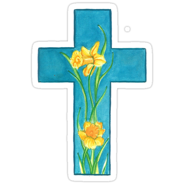 Spring Cross  by Leslie Gustafson