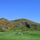 Arthur's Seat on a blue sky day by contradirony