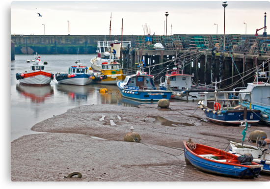 Awaiting The Evening Tide. by Trevor Kersley