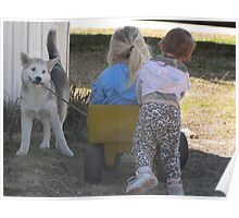 Mia the wagon pulling wolf Poster