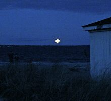 Perigee Moon At Third Beach - Newport - Rhode Island by Jack McCabe