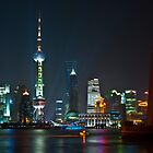 Shanghai at night by Thomas Stroehle