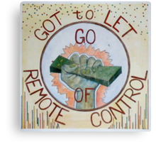 just let it go Canvas Print