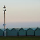 Brighton beach huts and lamp by lukasdf