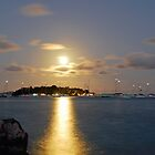 Moonrise over Marina Cay by Leon Heyns