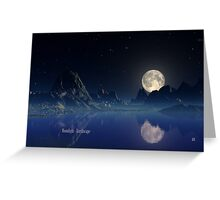 Moonlight - Earthscape Greeting Card
