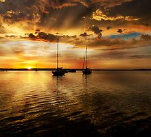 Macquarie sunrise by David Geoffrey Gosling (Dave Gosling)