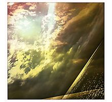 Sunshine through the clouds -  Series No.11 Photographic Print