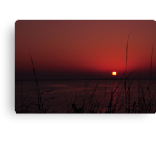 Sunrise after the Super Moon, As Is Canvas Print
