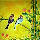Springtime Sparrows by Edmond  Hogge
