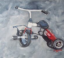 Original Oil Painting - First Wheels by Claudia Goodell