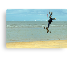 Airborne Kitesurfer Canvas Print
