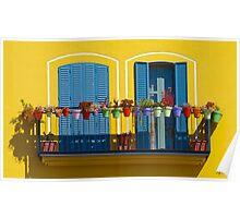 L'allegro balcone Poster