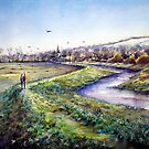Plein aire, A spring day in Alfriston,Sussex by LorusMaver