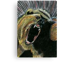 184 - RAW ENERGY (GRIZZLY BEAR) - DAVE EDWARDS - COLOURED PENCILS & GOUACHE - 2007 Canvas Print