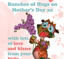 Mummy Mother's Day Card With Monster by Moonlake