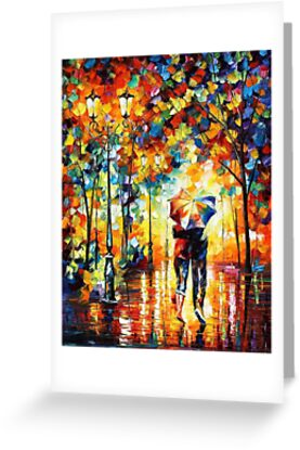 Rainy Day - original oil painting on canvas by Leonid Afremov by Leonid  Afremov
