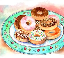 Plate Of Donuts by arline wagner
