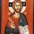 icon - Jesus Christ by Blagojce Petrovski