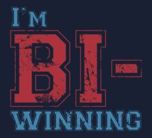 Bi-Winning red/blue by wittytees
