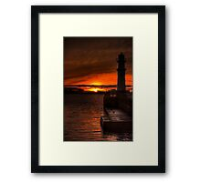 Sunset at the Lighthouse Framed Print