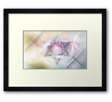 STAR OF DAVID-2- bless and protect Framed Print