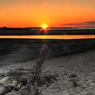 Dusk at Gullane beach by Chris Cherry
