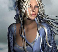 A Vision in Blue by Sandra Bauser Digital Art