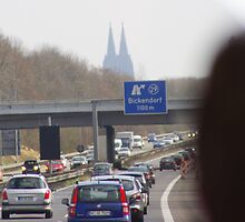 Driving In - Autobahn to Koln (Cologne), Germany by Doug Cargill