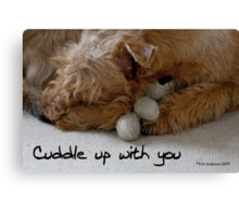 Cuddle up with you Canvas Print