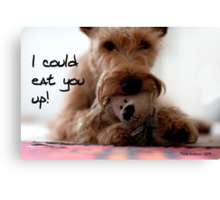 I could eat you up Canvas Print