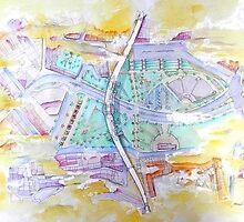 plan of the bridge by terezadelpilar~ art & architecture
