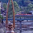 On yer way, mate!!, Bridge Guardian, Takayama , Japan. by johnrf