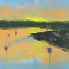 Sunrise over Georges River  by Tash  Luedi Art
