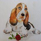 Basset Puppy with Love by dennysart