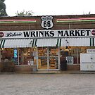 Route 66 - Wrink&#x27;s Market by Frank Romeo