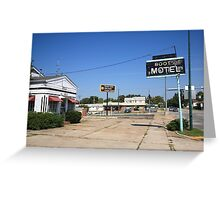 Route 66 - Boots Motel Greeting Card