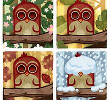 Seasonal Owl by Sean Celaya