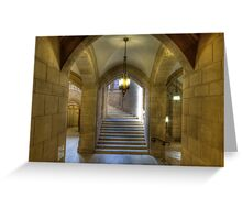 Grand Staircase to Suzzallo Reading Room Greeting Card