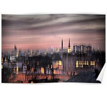 Dreamy City Skyline Poster